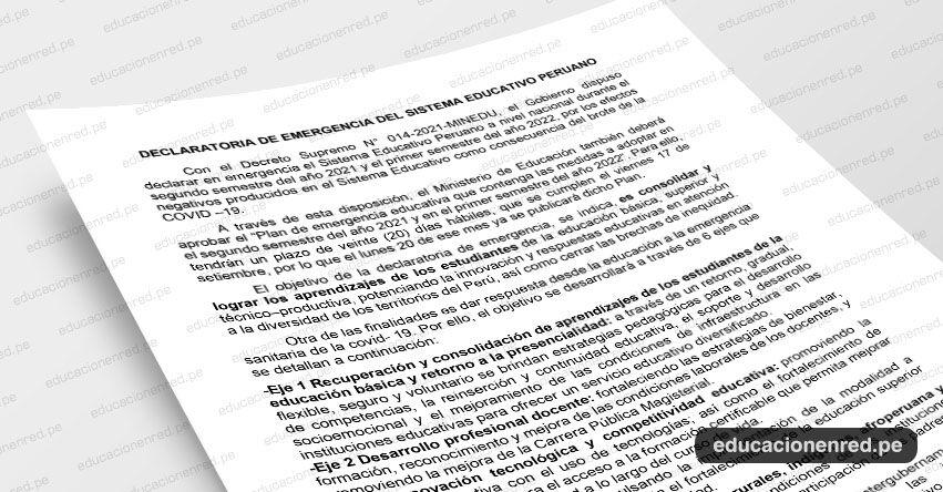 ANÁLISIS: Declaratoria de emergencia del sistema educativo peruano (Fernando Gamarra Morales)
