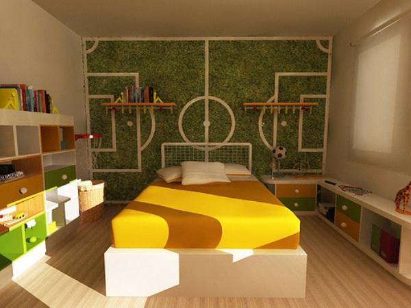 Decoraci n de dormitorios tem tica f tbol decoraci n del for Decoracion de cuartos de ninos de futbol