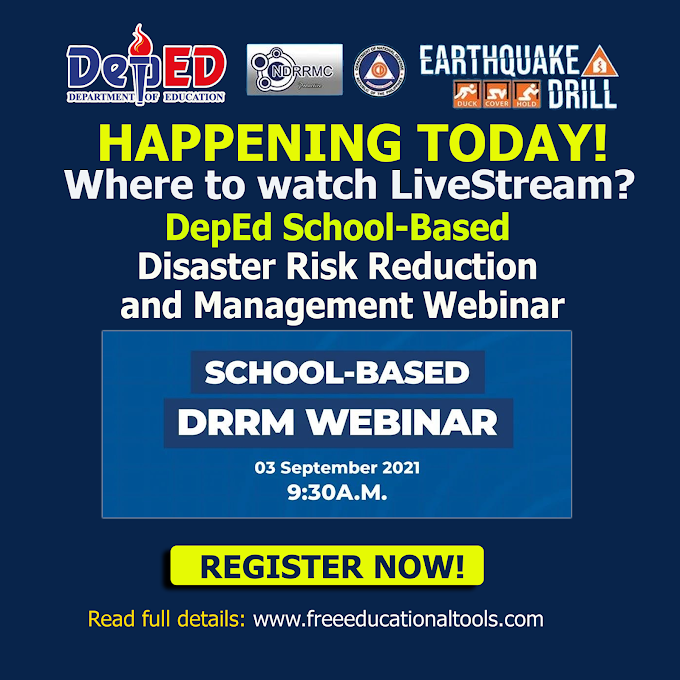 Where to Watch the School-Based DRRM Webinar for Teachers | September 3 | Live Stream