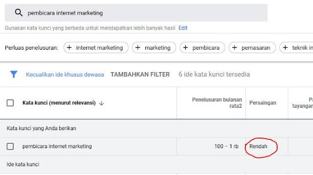 persaingan pembicara internet marketing