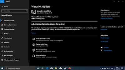 Microsoft Windows 10 20H1 19013 .1.vb_release.  191025. 1609