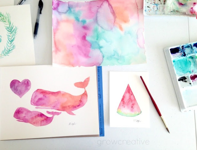 pink whales nursery art: growcreative