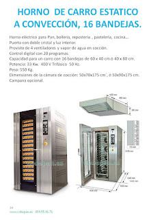 Hornos Carros Estaticos para 16 pisos 60x40 ó 40x80