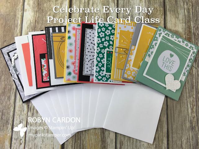 Sneak Peek of Celebrate Every Day Project Life Card Class