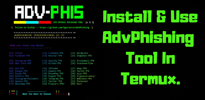 How to Install and Use AdvPhishing Tool In Termux. Social Engineering Tool. Full Tutorial 2020