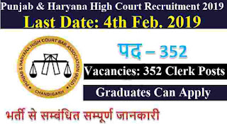 Punjab and Haryana High Court Recruitment 2019
