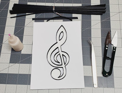 Paper Quilling Music Note