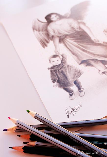 Retrato a lápiz sobre papel