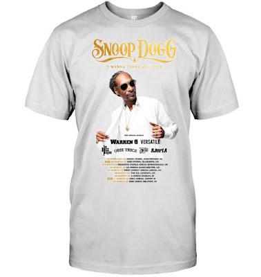 Snoop Dogg Ireland I Wanna Thank Me Tour 2022 T Shirts
