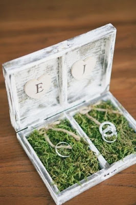 wedding ideas - white wash ring box with initials and wedding ring - wedding planning - services provided by wedding planners in Philadelphia PA - wedding planners capable - wedding ideas blog by K'Mich
