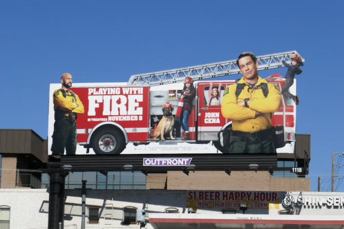 Playing With Fire ladder billboard