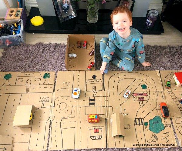Cardboard Village Small World