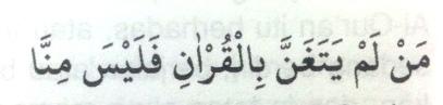 Melagukan bacaan Al-Qur'an