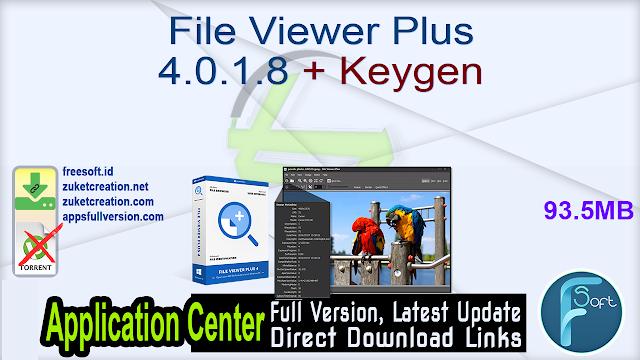 File Viewer Plus 4.0.1.8 + Keygen