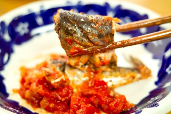 いわしのトマト煮実食