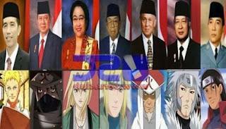 Kemiripan Hokage dengan Presiden Indonesia