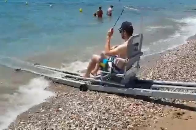 Σε λειτουργία και η ράμπα ΑΜΕΑ στην παραλία της Πλάκας Δρεπάνου (βίντεο)