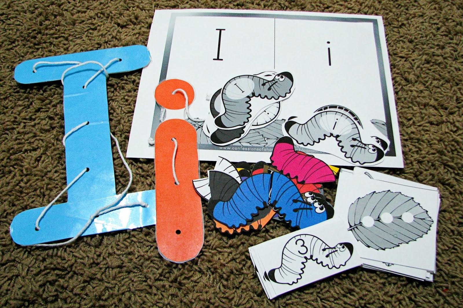 Mommy S Little Helper Letter I Inchworm Preschool Theme
