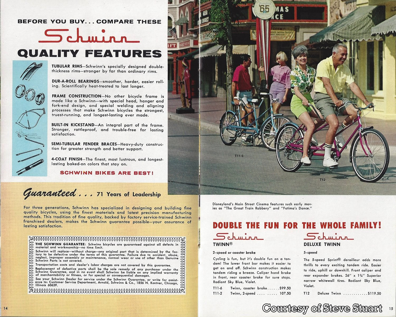 GORILLAS DON'T BLOG: 1966 Schwinn Bicycle Catalog - Part 2