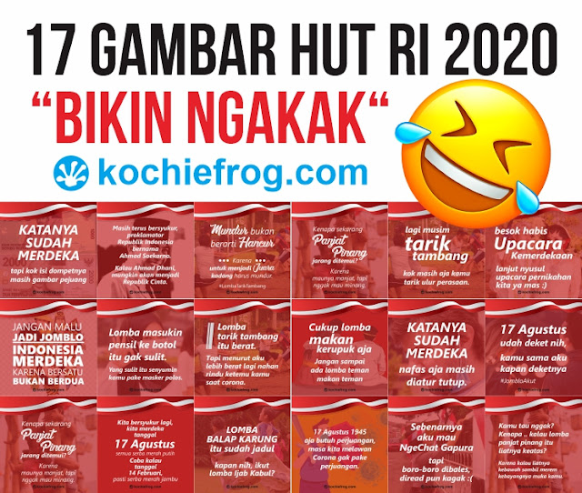 17 Gambar Ucapan HUT RI 2020 Lucu Banget bikin Ngakak