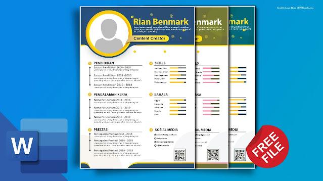 Curriculum Vitae.Docx : Download Contoh Kumpulan Curriculum Vitae Word Gratis