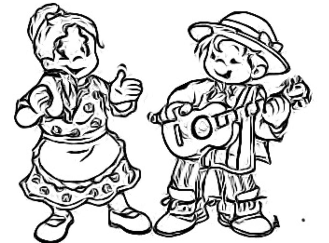 Chile Bailes Tradicionales Dibujos Para Colorear Colorear