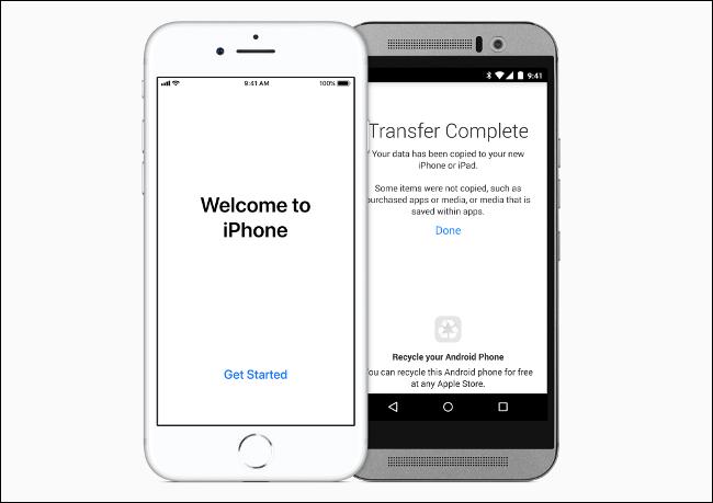 """هناك خدمة مساعد """"الانتقال إلى iOS"""" الرسمية"""