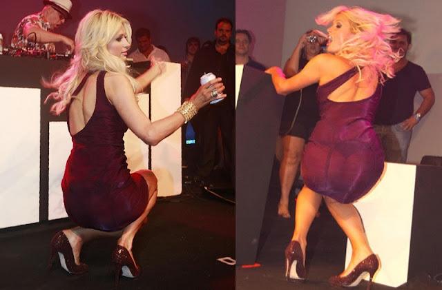 Paris Hilton com roupa transparente (Imagem: Reprodução/Internet)