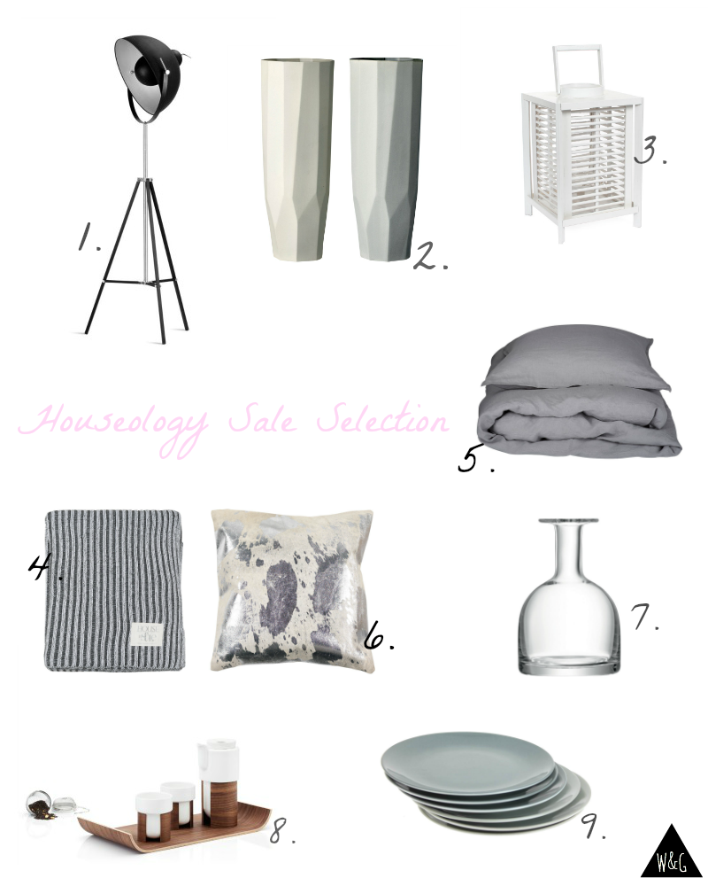 Style selection from Houseology mid-season sale
