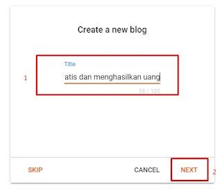 Buat Judul Blog