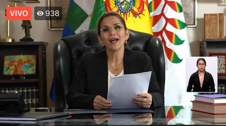 La presidenta constitucional en su mensaje a la nación de este miércoles 29 de abril / RRSS