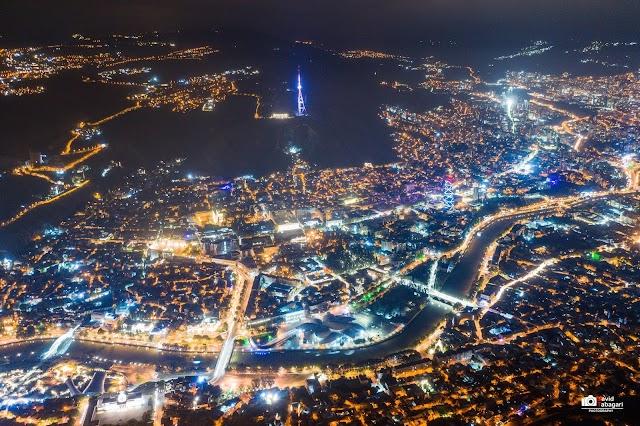 Ночной Тбилиси, Батуми и вечерний Сухуми