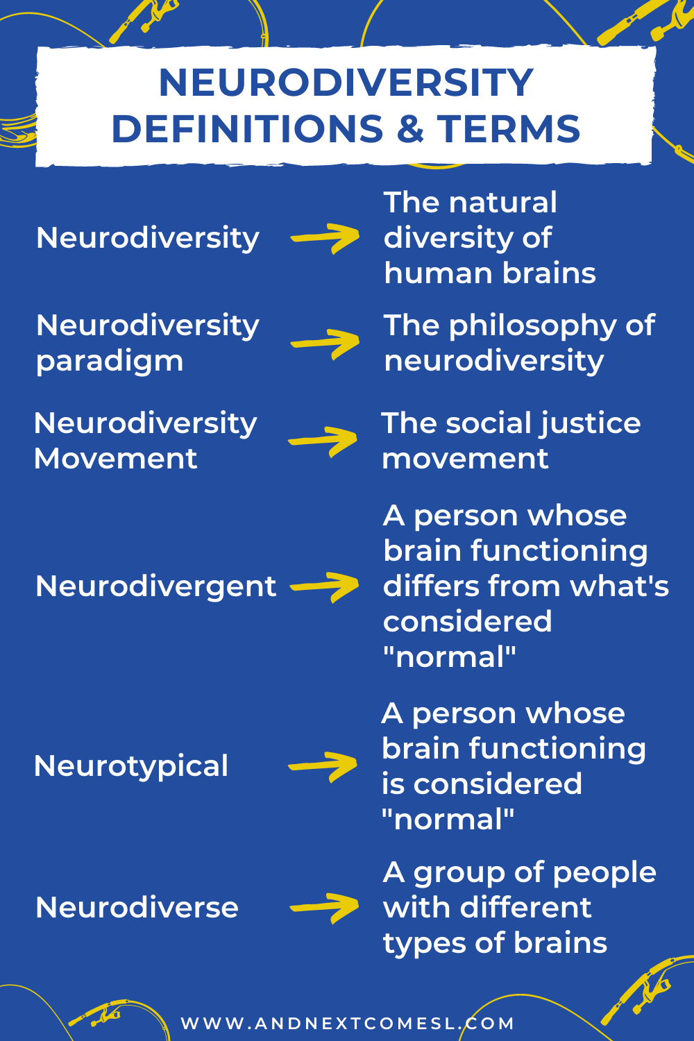 A list of common neurodiversity terms and their definitions