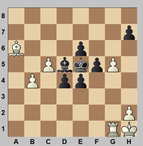 Partida de ajedrez Anguera - Tejero, Campeonato de España por equipos 1960