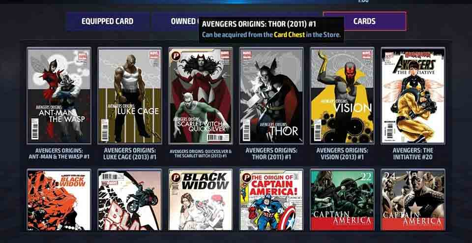 New card guide Marvel Future Fight
