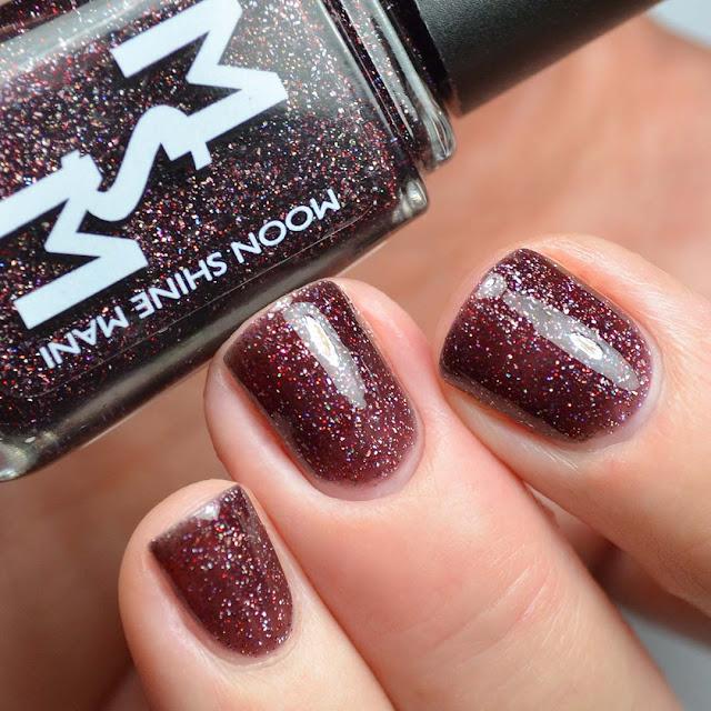 blackberry glitter nail polish swatch