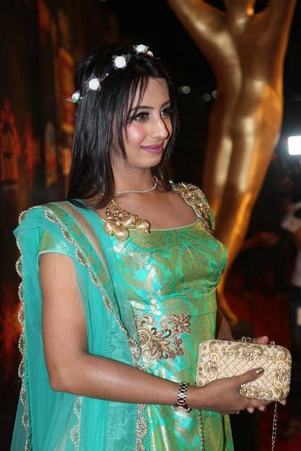 Sanjjanna Stills At Gemini TV Puraskaralu 2016