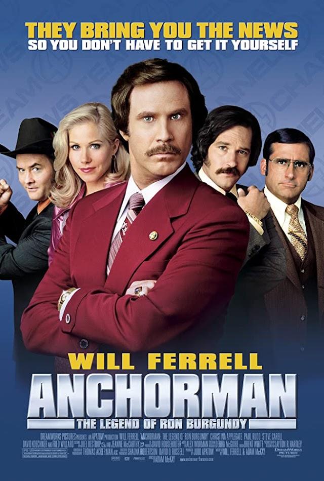 Anchorman The Legend of Ron Burgundy 2004 Unrated x264 720p Esub BluRay Dual Audio English Hindi GOPI SAHI