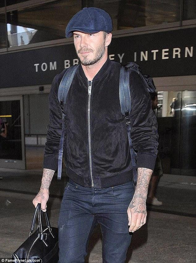 Wear It Like Beckham David Beckham Stylish Arrival Lax
