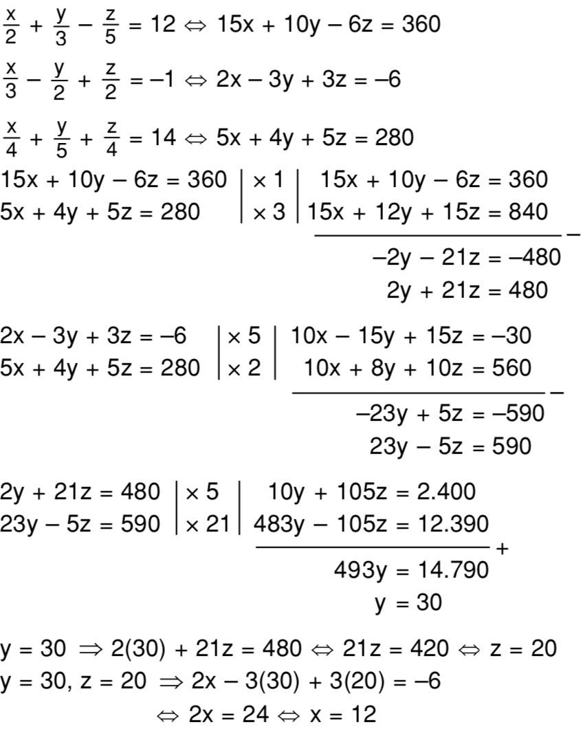 Persamaan Tiga Variabel : persamaan, variabel, Selesaikan, Sistem, Persamaan, Linear, Variabel, Berikut!, Dayat