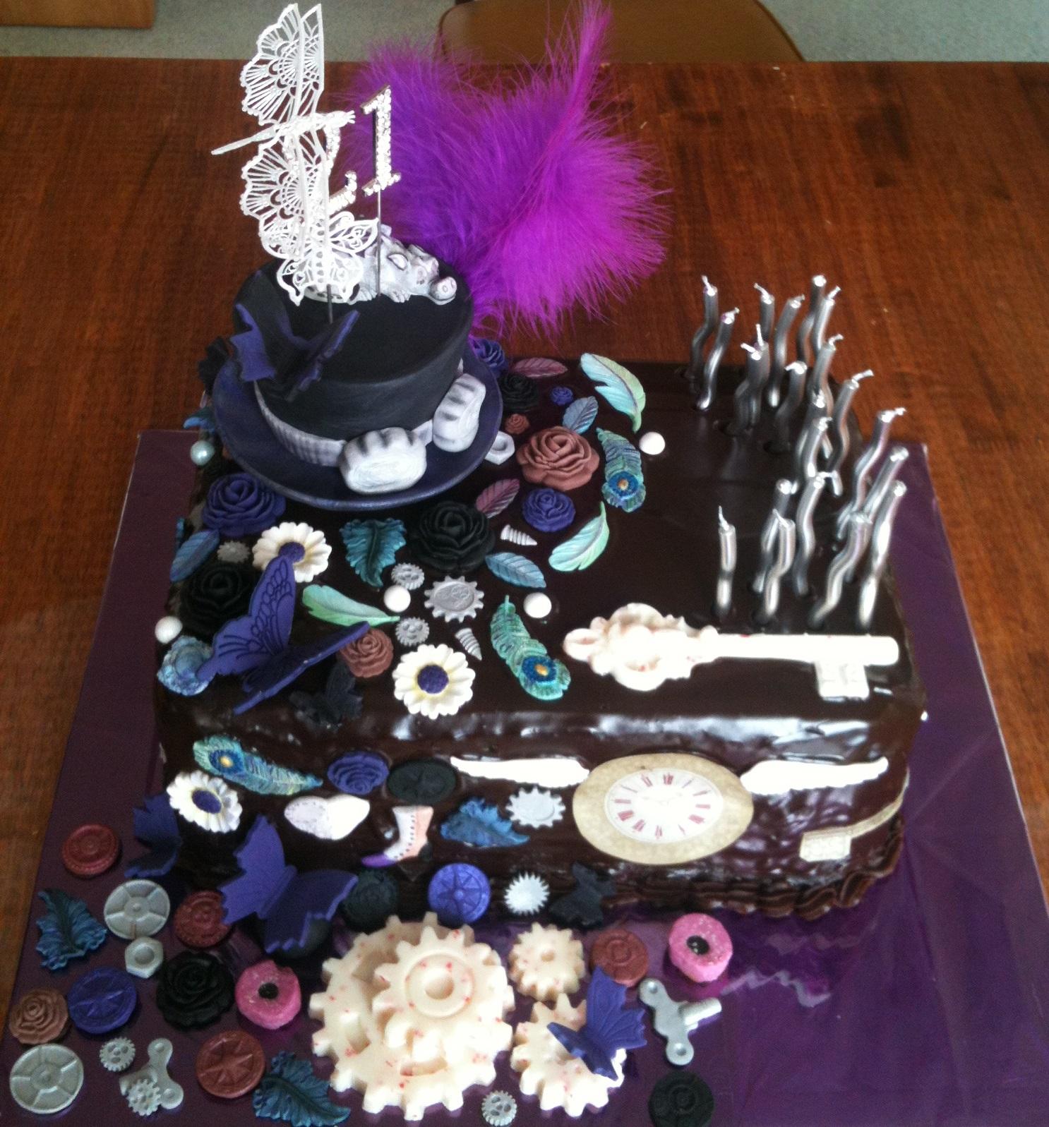 Kiwi Cakes Steampunk 21st Birthday Cake