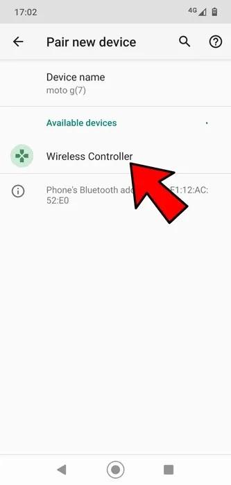 قم بتوصيل وحدة تحكم PS4 Ps5 Android Bluetooth
