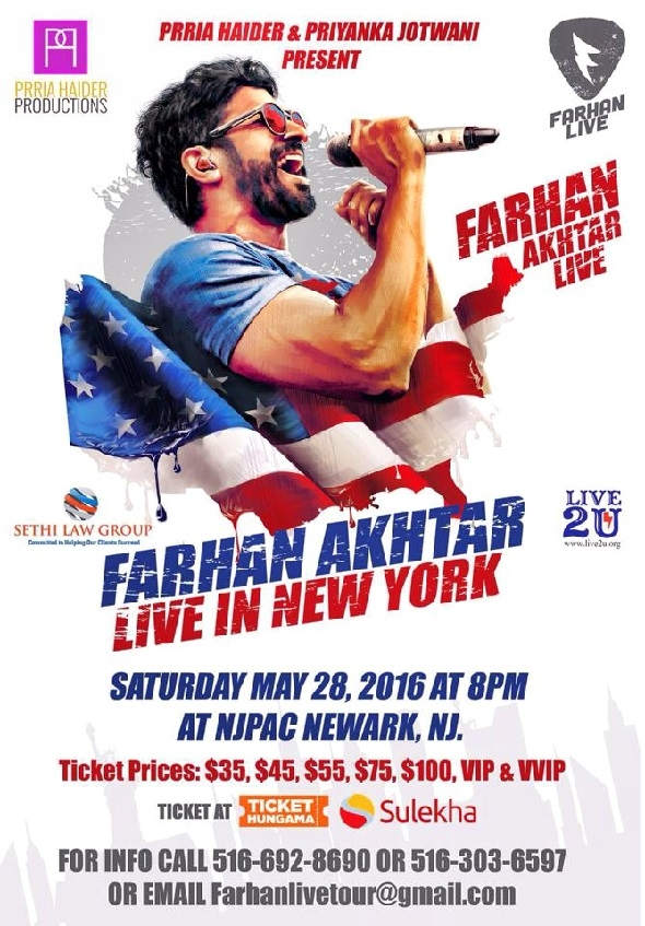 Farhan Akhtar Live in New Jersey