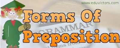 CBSE Class 8/9/10 - English Grammar - Forms of Preposition