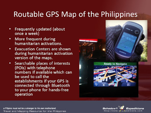 Schadow1 Expeditions Routable GPS Map of the Philippines