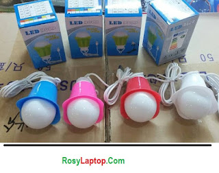 Lampu Led Bohlam + kabel USB