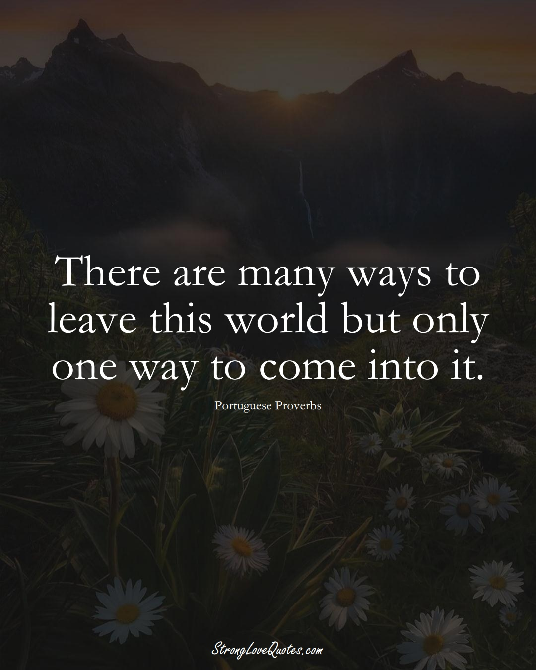 There are many ways to leave this world but only one way to come into it. (Portuguese Sayings);  #EuropeanSayings