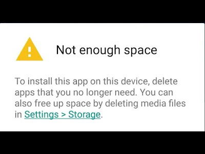 not enough space android problem fixing