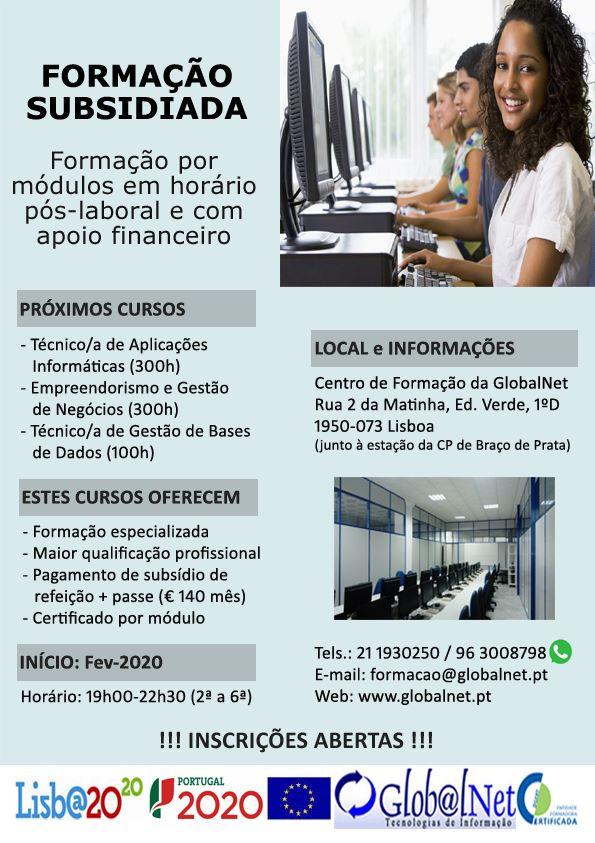 Formação subsidiada Lisboa 2020
