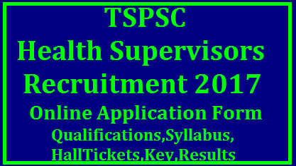 Telangana PSC Recruitment 2017 Notification For 21 Health Supervisor Positions – Apply Online Telangana State Public Service Commission (TSPSC) is going to fill 21 Health Supervisor Positions in TS Social Welfare Residential Degree College only for women candidates. Interested and qualified contenders may apply for this notification without late. Before going to apply for this notification don't forget to visit official site www.tspsc.gov.in Applications are invited Online from qualified women candidates through the proforma Application to be made available on Commission's WEBSITE (www.tspsc.gov.in) to the post of Health Supervisor in Telangana Social Welfare Residential Degree College (Women). Telangana health and Family Welfare Dept Recruitment Notification By TSPSC . Educational Qualifications Eligibility criteria Syllabus Scheme of Examination Date of Examinations Hall Tickets Answer Key Results Merit List Download tspsc-health-supervisors-recruitment-notification-educational-qualifications-syllabus-hall-tickets-anwer-key-results-download TSPSC Health Supervisor Recruitment 2018 – 21 Health Supervisor Vacancies – Last Date 11-12-2017 Telangana State Public Service Commission (TSPSC) has published a recruitment notification for the recruitment of Health Supervisor. The notification has published on the official website tspsc.gov.in. The notification number is 62/2017 dated 8th November 2017. The online application form for TSPSC Heath Supervisors recruitment will start on 16th November 2017. The last date for online application form is 11th December 2017. The candidates who have passed MBBS/BHMS/BAMS/BUMS can apply for TSPSC Health Supervisor recruitment on or before 11th December 2017. You can check here the complete detail about TSPSC Health Supervisor vacancies like age limit, qualification, application form, selection procedure, last date and more detail. /2017/11/tspsc-health-supervisors-recruitment-notification-educational-qualifications-syllabus-hall-tickets-model-question-papers--anwer-key-results-download.html